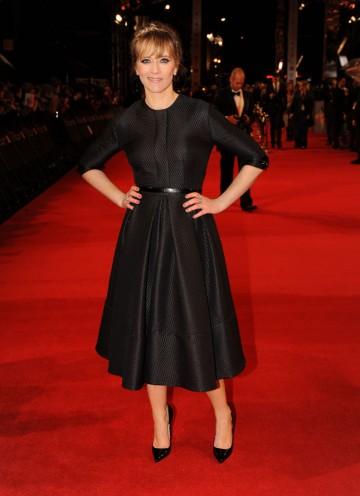 TV and radio presenter Edith Bowman, who'll be hosting BAFTA's backstage webcasts. Bowman is wearing an Amelia Wickstead dress. (Pic: BAFTA/Richard Kendal)