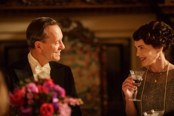 Downton Abbey has had guest appearances from a host of familiar faces including Richard E. Grant, pictured here in a scene with Elizabeth McGovern.