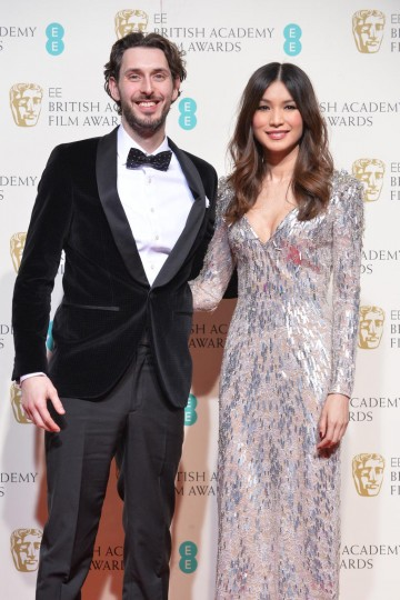 Presenters of the British Short Film award: Blake Harrison and Gemma Chan