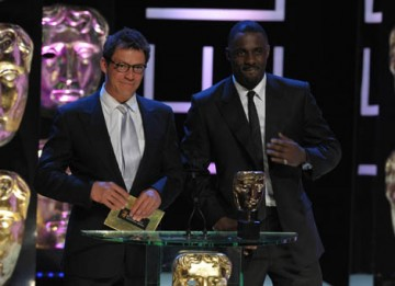 The Office actor Idris Elba and Dominic West, star of The Devil's Whore, took to the stage to present the Single Drama award (BAFTA / Marc Hoberman).
