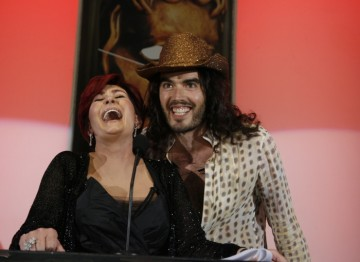 Sharon Osbourne and Russell Brand