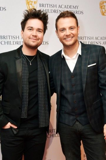 Sam Nixon and Mark Rhodes at the BAFTA Children's Awards 2015 at the Roundhouse on 22 November 2015
