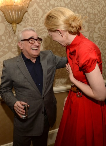 Cate Blanchett and Martin Scorsese at the BAFTA LA 2014 Awards Season Tea Party.