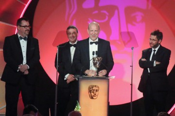 John Mooney, Douglas Sinclair, Howard Bargroff and Paul McFadden accept the award for Sound: Fiction at the British Academy Television Craft Awards in 2015