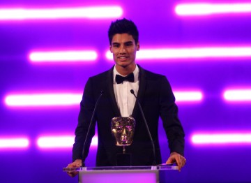 Siva, frontman from The Wanted, announces the winner of the Mobile & Handheld category.