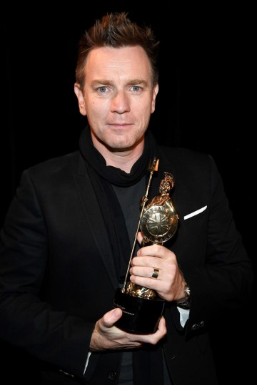 Honoree Ewan McGregor after receiving the Humanitarian Award for his incredible work with UNICEF