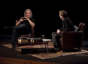 Paul Greengrass and Simon Mayo in discussion.