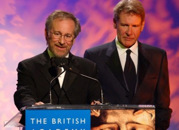 Steven Spielberg and Harrison Ford pay tribute to George Lucas