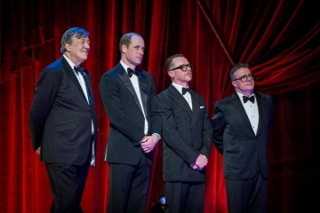 Stephen Fry, the Duke of Cambridge, Simon Pegg and Nathan Lane.
