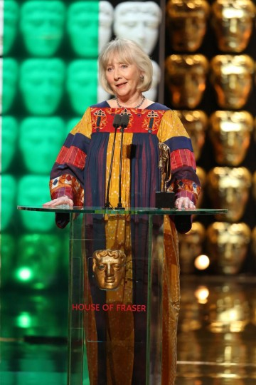 Gemma Jones accepts the award for Supporting Actress