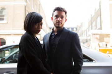 Pippa Bennett-Warner and Jonathan Bailey arrive