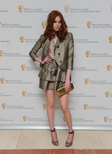 Karen Gillan takes a break from time travelling with the Doctor to strike a pose on the TV Craft Awards red carpet (BAFTA/Richard Kendal).