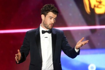 """After the ceremony Whitehall tweeted that he """"had an amazing time hosting the BAFTA LA awards and honoured to have shared the stage with Amy Schumer and her chocolate river."""""""