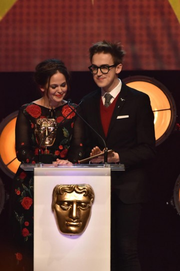 Giovanna and Tom Fletcher present the Writer Award
