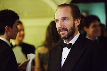 Leading Actor nominee Ralph Fiennes backstage in the J. Kings Smoking Room at London's Royal Opera House.