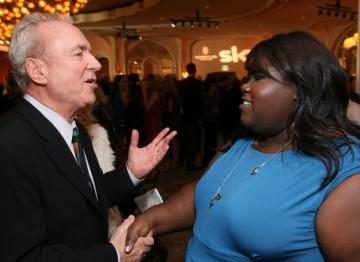 Gabourey Sidibe meets Rolf Mittweg at the BAFTA Los Angeles at the Award Season Tea Party in 2010