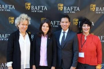 Susan Margolin, Andrew Uriarte, Linda Kahn, and an NYU Tisch School of the Arts scholarship recipient.