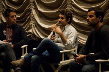 Moderator Nigel Smith, Director Bart Layton and Producer Dimitri Doganis