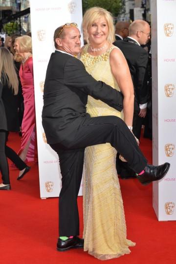 Mrs. Brown's Boys stars Brendan O'Carroll and Jennifer Gibney on the red carpet