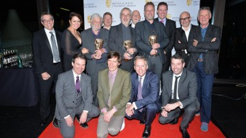 Clangers wins the Pre-School Animation category at the British Academy Children's Awards in 2015, presented by Harry Hill.