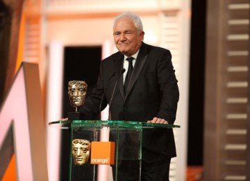David Seidler takes his second BAFTA of the night (after Outstanding British Film) for writing The King's Speech. (Pic: BAFTA/ Stephen Butler)