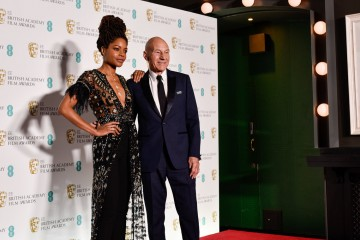 Naomie Harris and Sir Patrick Stewart pose for a photo