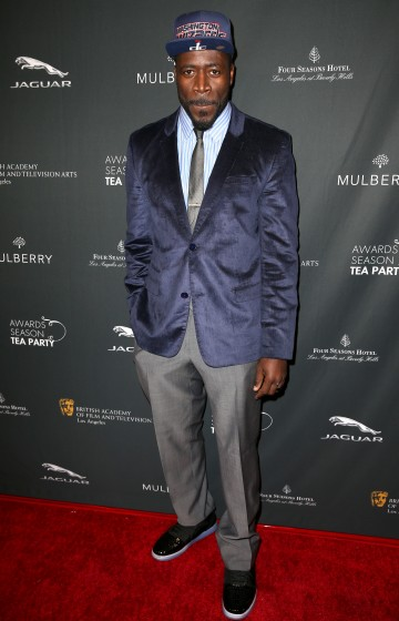 Demetrius Grosse arriving at the BAFTA LA 2014 Awards Season Tea Party.