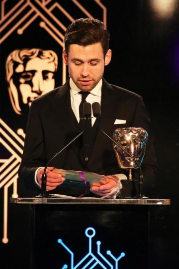Benjamin O'Mahony presents the award for British Game