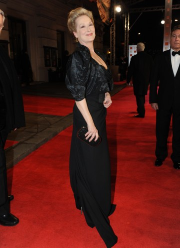 The Iron Lady star and Leading Actress nominee Streep is looking every inch a lady in Vivienne Westwood.