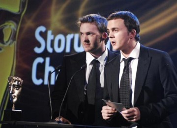 Hollyoaks stars Matt Littler and Darren Jeffries present the Award for Story And Character