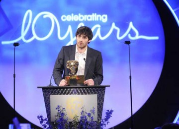 Matthew McNulty, star of the BAFTA-winning drama The Shooting of Thomas Hurndall, took to the stage to announce the Sound Factual award (BAFTA / Richard Kendal).