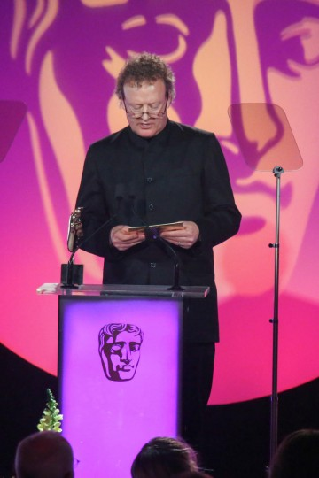 Howard Goodall presents the award for Sound: Factual at the British Academy Television Craft Awards in 2015