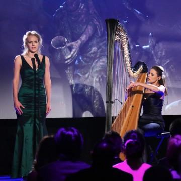 Soprano Sophie Pullen and harpist Valeria Kurbatova start the show