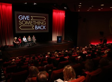 The launch of Give Something Back.