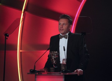 Springwatch presenter Chris Packham presented the team behind the BBC nature programme with the BAFTA Special Award. (Pic: BAFTA/Jamie Simonds)