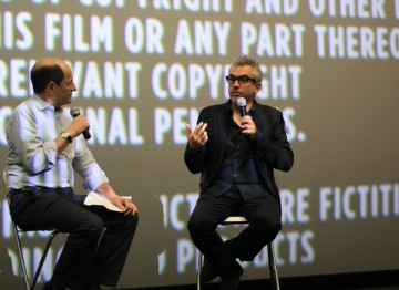 Moderator Brian Rose and Director Alfonso Cuarón