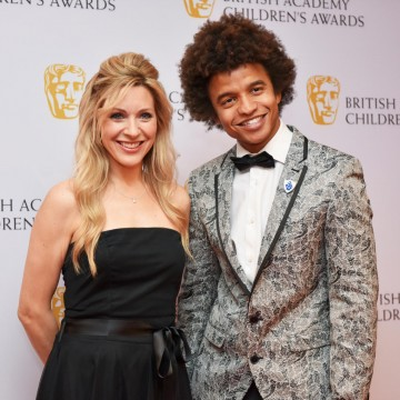 Naomi Wilkinson and Radzi Chingyanganya at the BAFTA Children's Awards 2015 at the Roundhouse on 22 November 2015