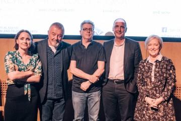 Laura Fraser, Willy Wands, Stephen Brady, Tim Haines & host Janice Forsyth