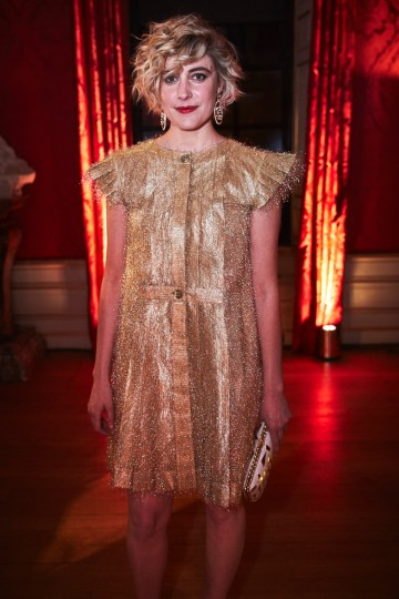 Greta Gerwig at the BAFTA Nespresso Nominees' Party
