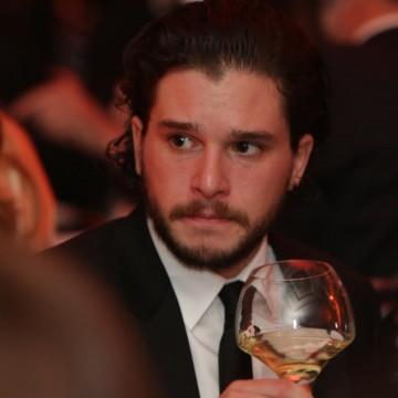 Kit Harrington enjoys a glass of Villa Maria wine at the Gala dinner