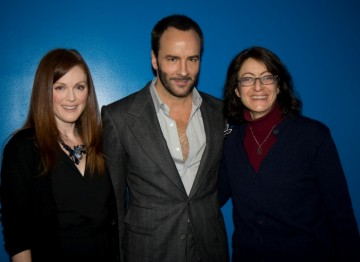 Julianne Moore, Director Tom Ford and BAFTA New York Screening Committee Co-Chair Susan Wagner.
