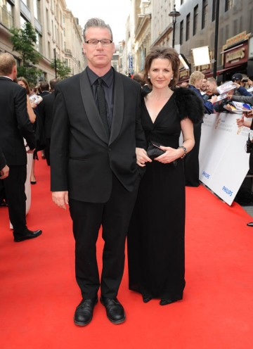 Presenter of the award for Current Affairs, film critic Mark Kermode, arrives on the red carpet (BAFTA/Richard Kendal).