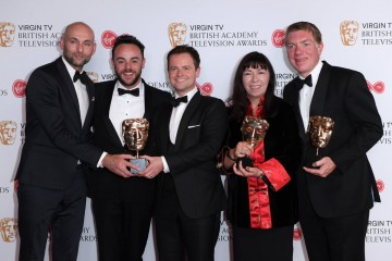 Winners of Live Event: The Queen's 90th Celebration L-R - Lee Connolly, Ant & Dec, Sue Andrew, Nick Bullen