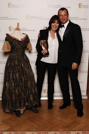 James Purefoy presented the Costume Design Award to Amy Roberts for Oliver Twist (pic: BAFTA / Richard Kendal).