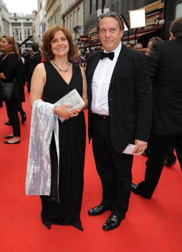 The Thick of It star Rebecca Front arrives to see if she has won the Female Performance in a Comedy Programme BAFTA (BAFTA/Richard Kendal).
