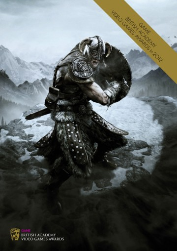 GAME British Academy Video Games Awards 2012 brochure cover: The Elder Scrolls V: Skyrim