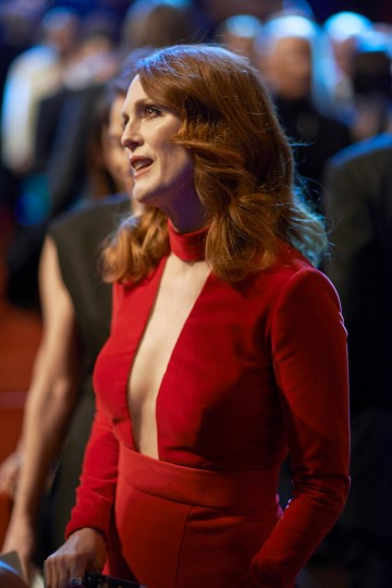 Julianne Moore arrives in the Auditorium of London's Royal Opera House.