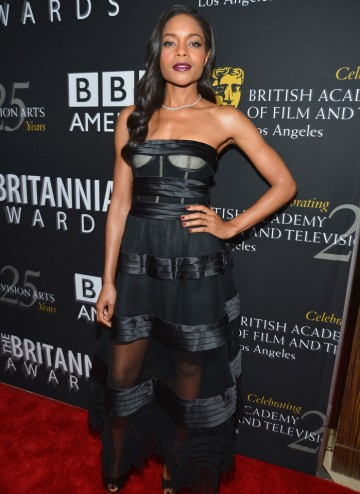 Bond actress Naomie Harris opted for gothic black.
