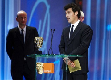 Director Joe Wright collects the Best Film BAFTA for Atonement.
