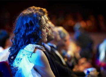 Marion Cotillard waits in expectation as the Leading Actress category is announced. The French Actress came away with a BAFTA for a stunning performance as Edith Piaf in La Vie en Rose (pic: BAFTA / Camera Press).